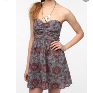 Urban Outfitters Boho Strapless Mini Dress